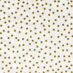 serviettes étoilées -or