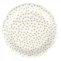 Assiettes étoilées (x8) - Or