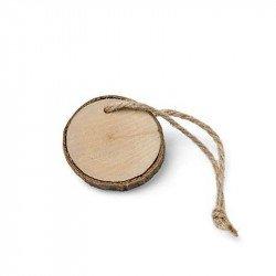 Marque place rondins de bois (6 unites)