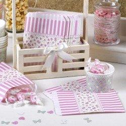 25 sacs bonbons Shabby fleuri