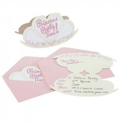 Invitations Princesse au Carrosse (x10)