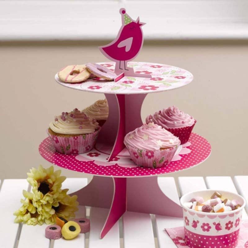 Support à gâteaux rose bonbon - à l'unité
