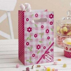 Sac cadeaux rose bonbon - 5 unités