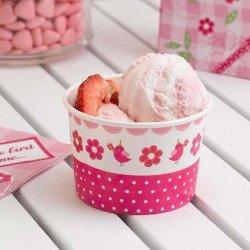 Coupe en papier rose bonbon - 8 unités