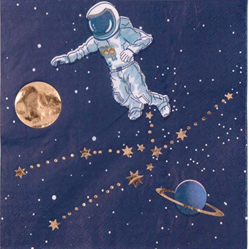 16 Serviettes astronautes