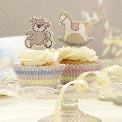 Moules à cupcake Mon petit cheval à bascule - 50 unités