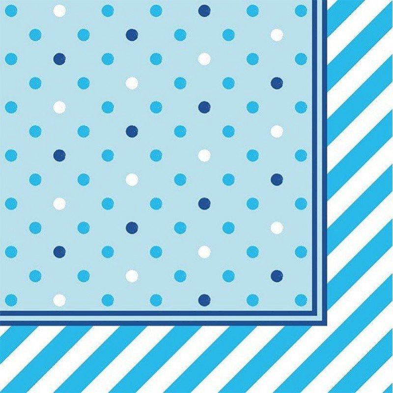 Serviette bleue - 20 unités