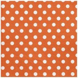 Serviettes à pois (x20) - Orange