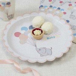 Assiettes Petit lapin -8 unités