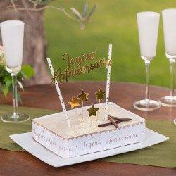 Déco de gâteau d'anniversaire étoilée
