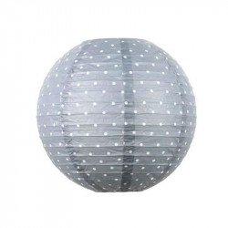Lampion à pois gris - 45cm