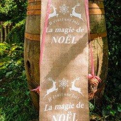 "chemin de table Jute ""La Magie de Noel"""