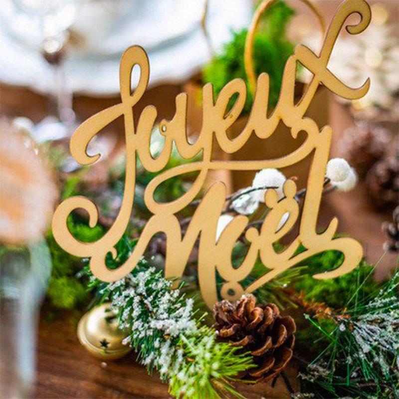 """Déco """"Joyeux Noël"""" Bois"""
