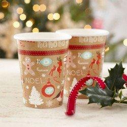 Gobelets Noël Pain d'épices -8 unités