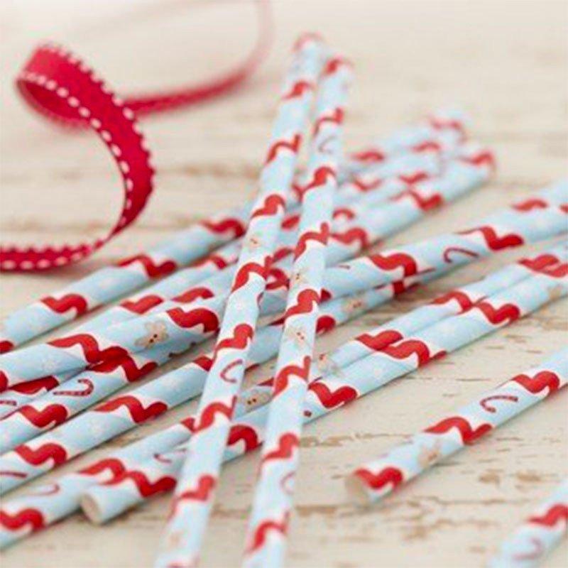 Pailles Noël Pain d'épices -25 unités