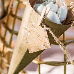 """10 Etiquettes kraft """"fougères rose gold"""""""
