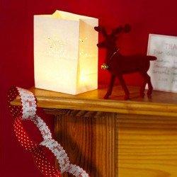 6 sacs de lumière flocon Noël