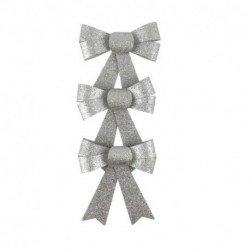 Nœuds paillettes (x3) - Argent