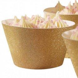 Tours cupcakes dorés (x10)
