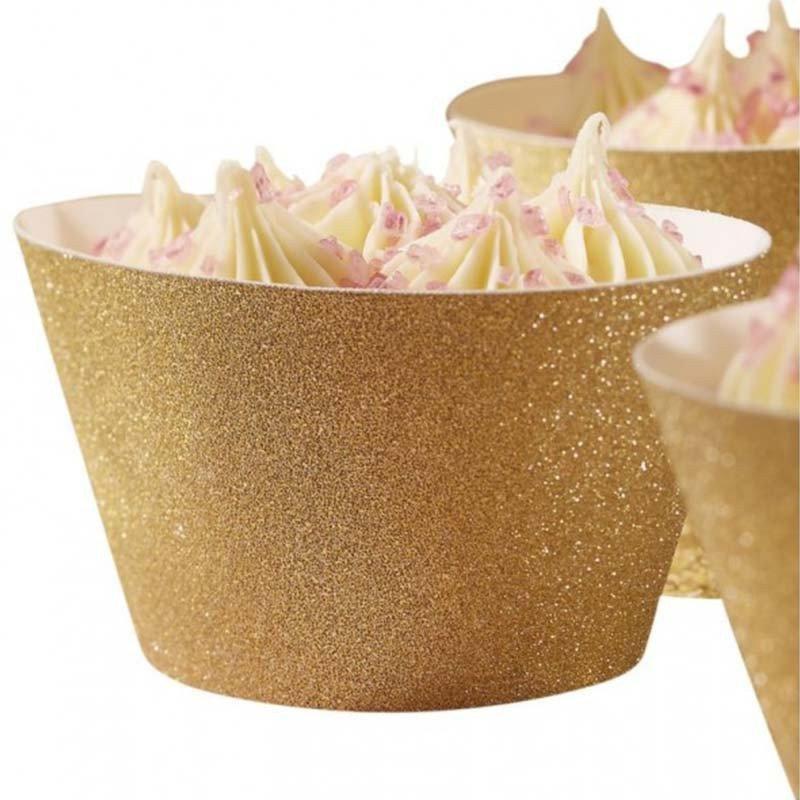 Tours cupcakes or - 10 unités