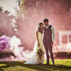Fumigène de mariage