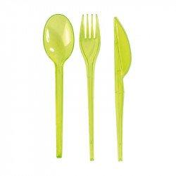 Couverts translucides (x30) - Vert