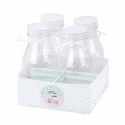 Bouteilles de lait (x4)