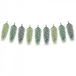 Guirlande de feuilles tropicales