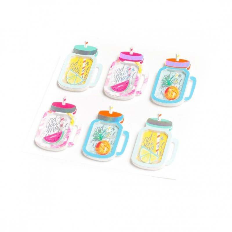 6 stickers Mason Jar