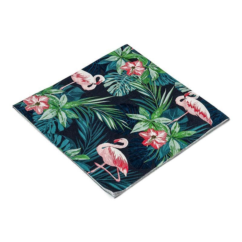 Serviettes tropicales flamingo
