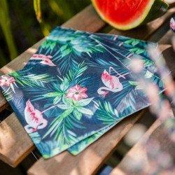 Serviettes tropicales flamingo