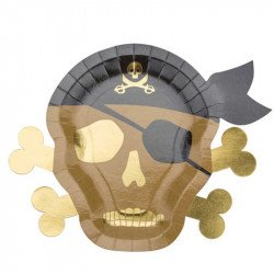 Assiettes Pirate (x8)