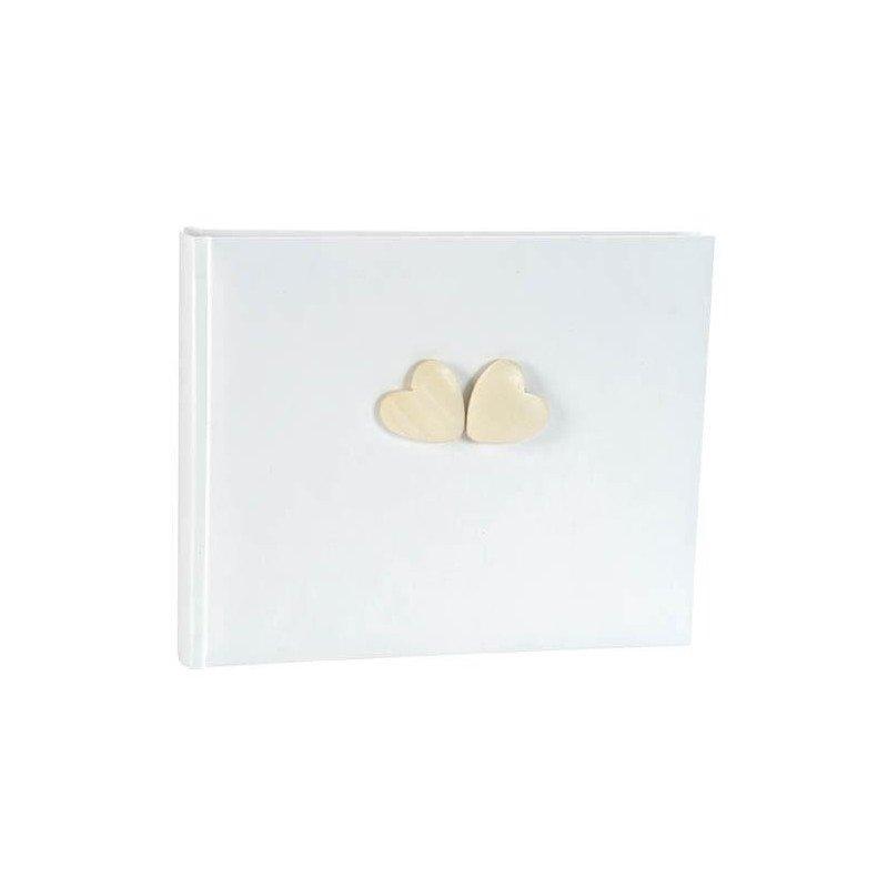 Livre cœur bois blanc