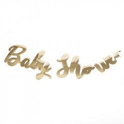 Guirlande baby shower métal or