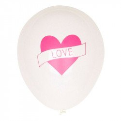 Ballons Love (x5) - Rose