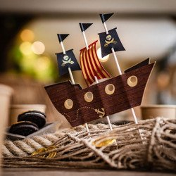 Déco gâteau Bateau Pirate