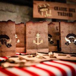 4 Sachets kraft Pirate