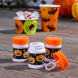 6 pots à bulles Halloween citrouille