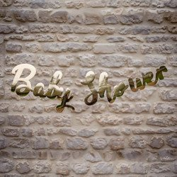 """Guirlande """"Baby Shower"""" dorée"""