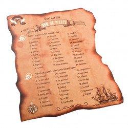 Cartes Jeu de Pirate (x8)
