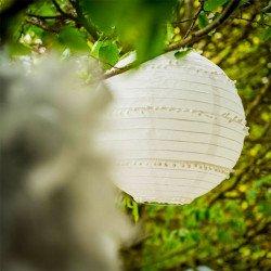 Lanterne/lampion à jolis Pompons