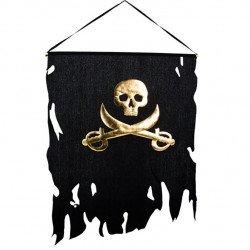Grand Drapeau Pirate Noir