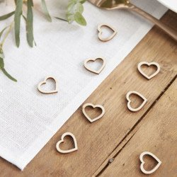 Confettis coeur en bois