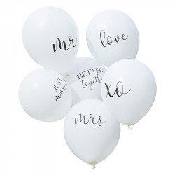 Ballons de mariage (x6)