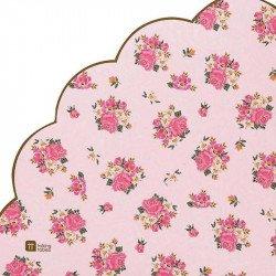 Serviettes fleurs Tea-Time festonnées (x20)