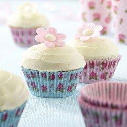 Moules à cupcake Rose Vintage (x100)