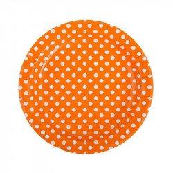 Assiettes à pois (x10) - Orange