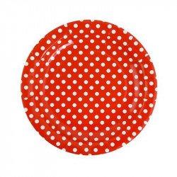 Assiettes à pois (x10) - Rouge