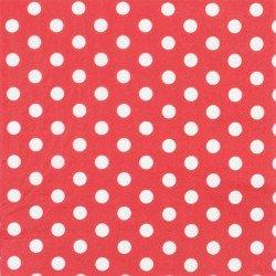 Serviettes à pois (x20) - Rouge