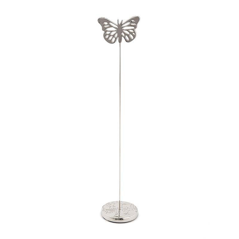 Porte nom de table papillon argent